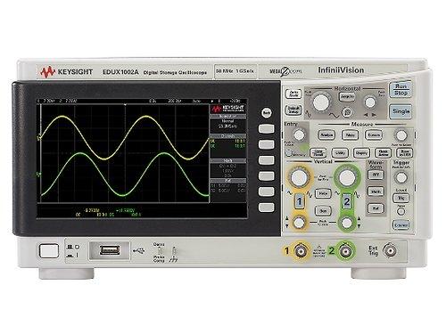 Keysight EDUX1002A InfiniiVision 1000 X-Series Education Oscilloscope, 50 MHz, 1 GS/s, 2Ch